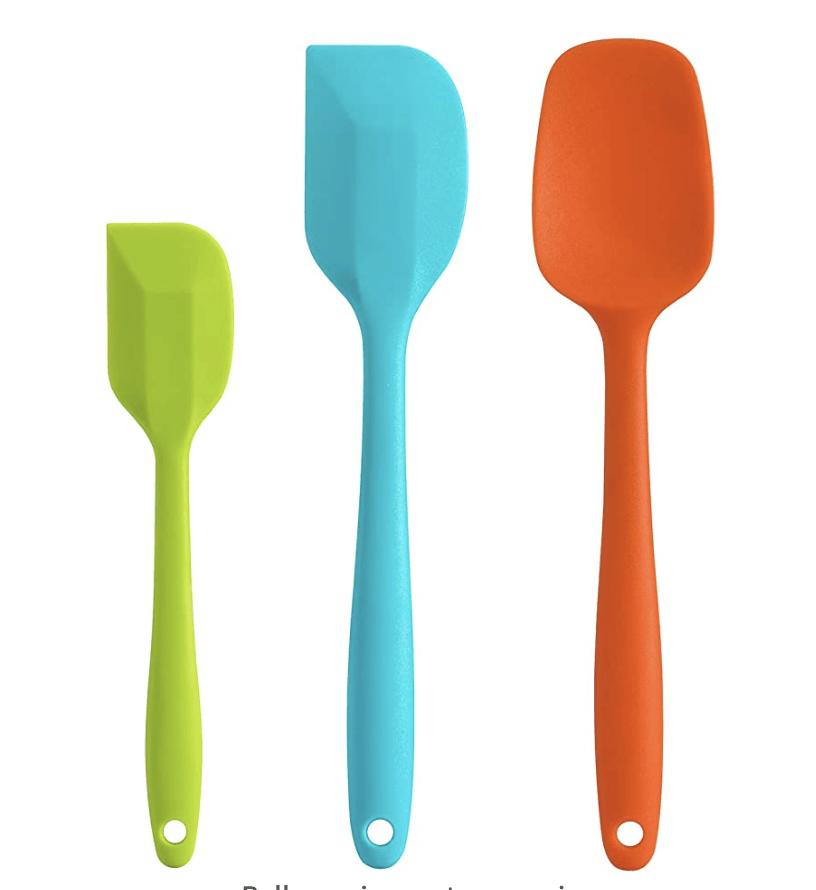 colorful spatula set
